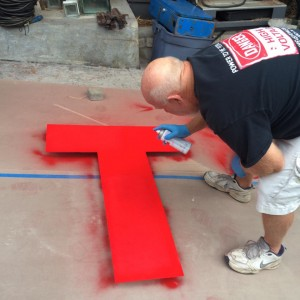 TEDx Sign Under construction